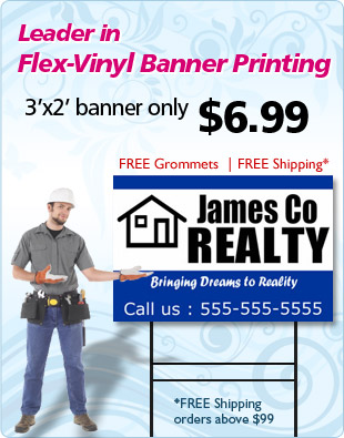 All types Of Banners @ just $0.99/SF