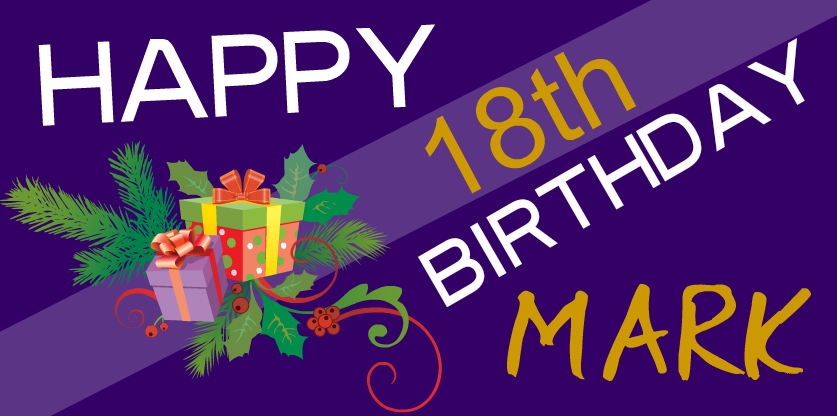 Hy 18th Birthday You Can Personalise This Banner