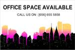 Custom banner for office space