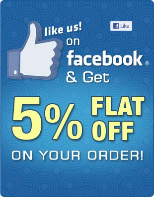 Like Us on Facebook and Yu will Get 5% Discount