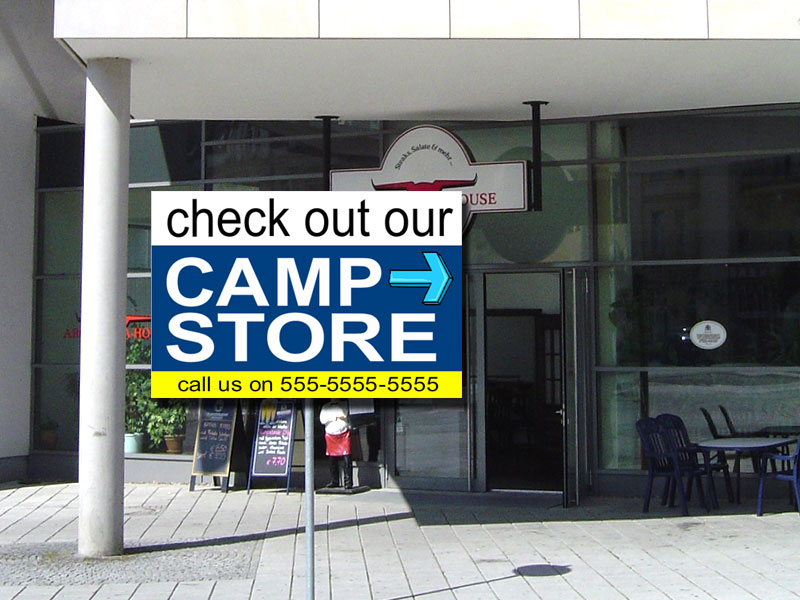 Camp Store PVC banner
