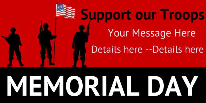 Memmorial Banners Vertical Banners