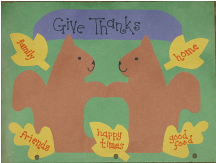 Fig: A fall thanksgiving banner using symmetry as a theme
