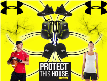 Fig: Use of symmetry in an advertisement by under armour