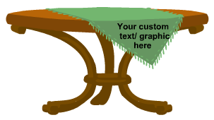 Custom Table Covers / Table Throw Products
