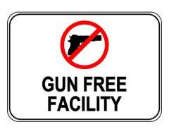 Gun Free Facility Sign