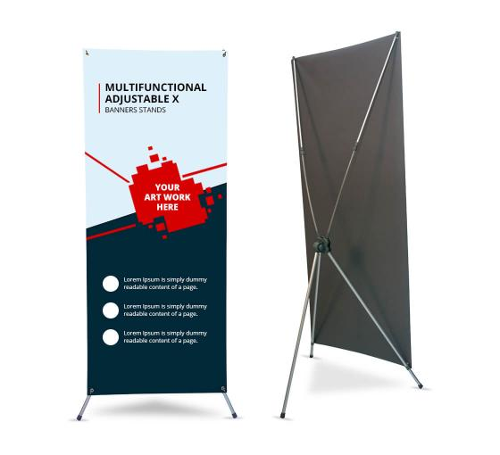 Multifunctional Adjustable X Banner Stands
